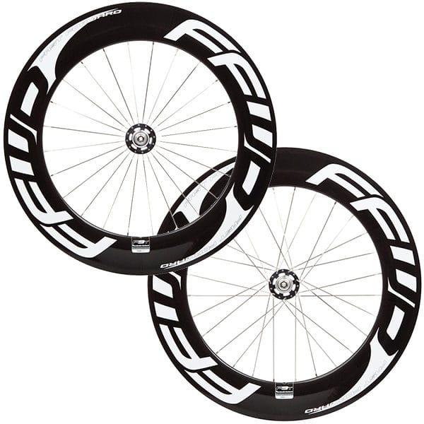 FFWD Wheels F9T 90mm Fixed Gear Tubular Track Wheel Set White