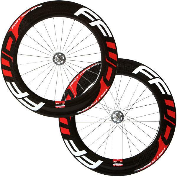 FFWD Wheels F9T Tubular Track Wheel Set Red