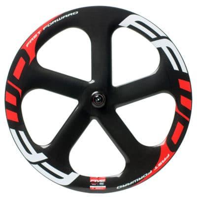 FFWD Wheels Five-T 5 Spoke Fixed Gear Front Track Wheel Ceramicspeed White