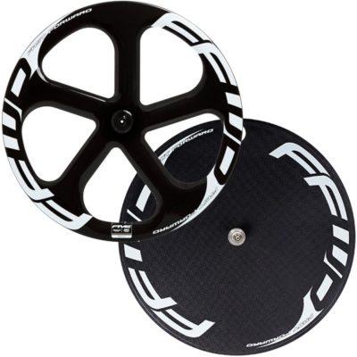 FFWD Wheels Five-T DISC-T Carbon Tubular Track Wheel Set White