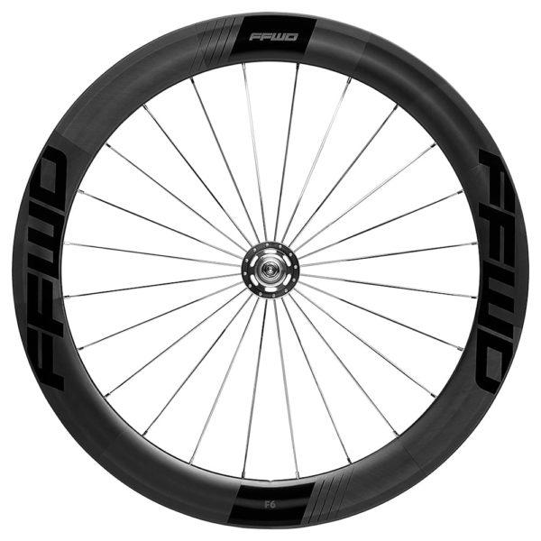 FFWD Wheels F6T 60mm Fixed Gear Tubular Track Wheel Front Black