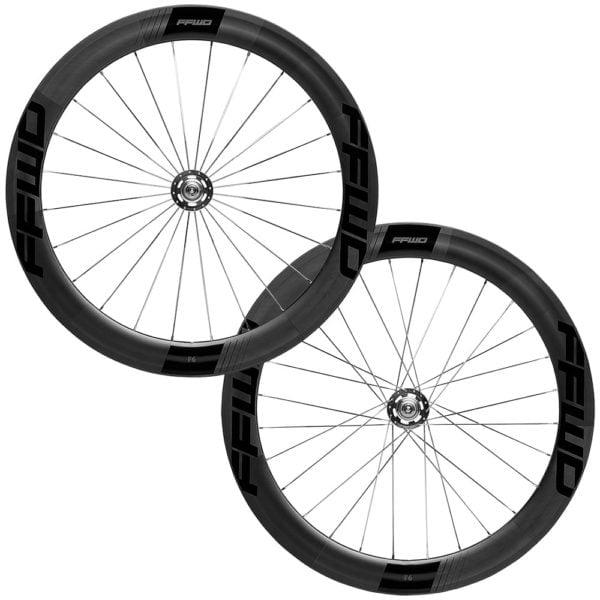 FFWD Wheels F6T 60mm Fixed Gear Tubular Track Wheel Set Black