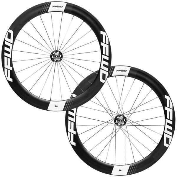 FFWD Wheels F6T 60mm Fixed Gear Tubular Track Wheel Set White