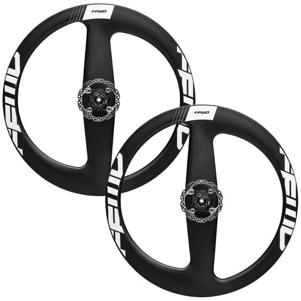 FFWD Wheels Falcon 2 Spoke Carbon Clincher Disc Brake Wheel Set White