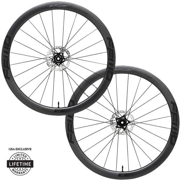 FFWD Wheels RAW 44mm DT180 EXP Carbon Clincher Disc Brake Wheel Set