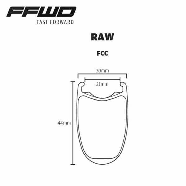 FFWD Wheels RAW Rim Profile