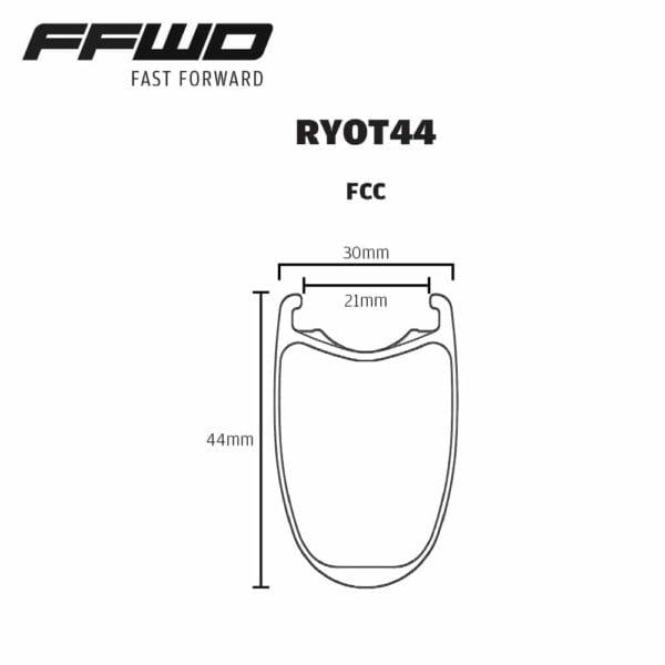 FFWD Wheels RYOT44 Rim Profile