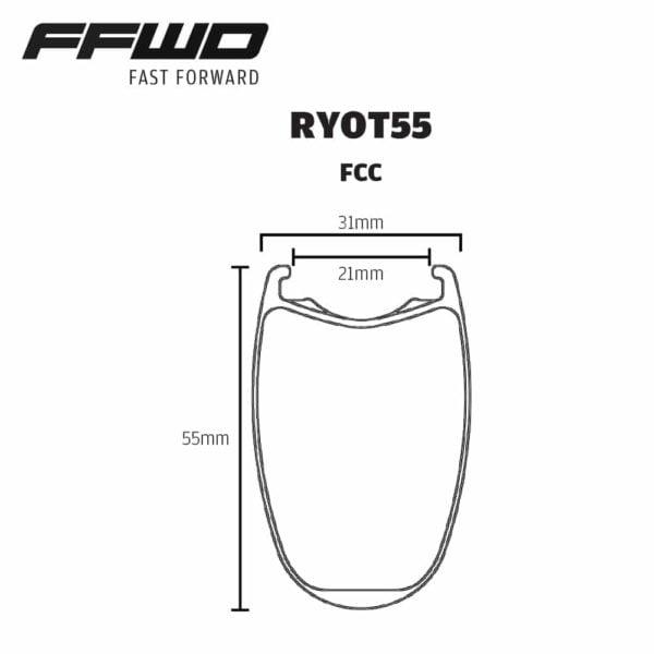 FFWD Wheels RYOT55 Rim Profile