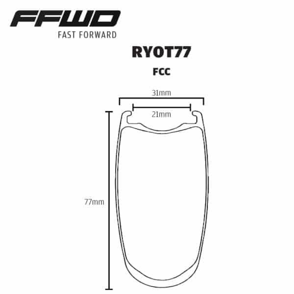 FFWD Wheels RYOT77 Rim Profile